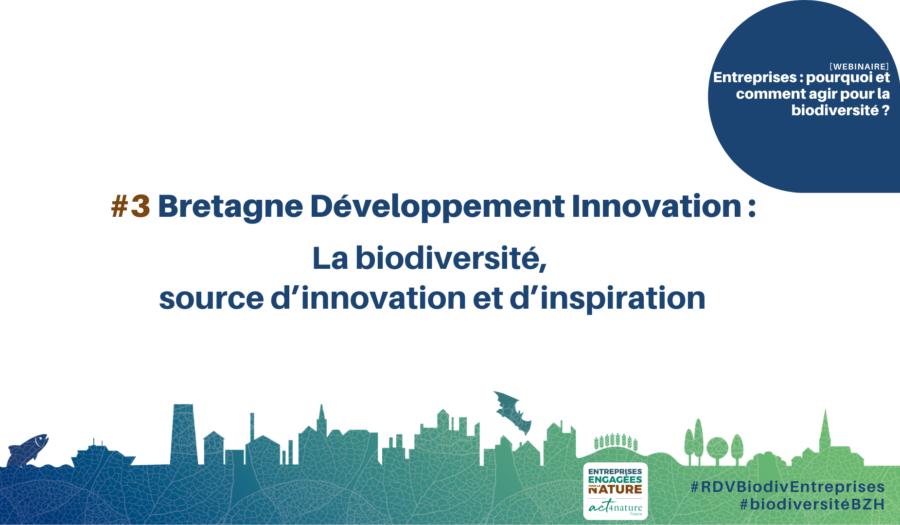 Bretagne Développement Innovation : La biodiversité, source d'innovation et d'inspiration