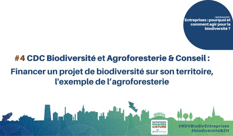 CDC Biodiversité et Agroforesterie & Conseil : financer un projet de biodiversité sur son territoire