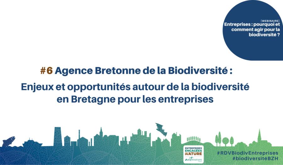 Agence Bretonne de la Biodiversité : enjeux et opportunités de la biodiversité pour les entreprises