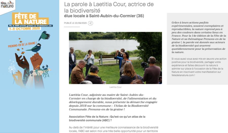 Entretien avec Laetitia Cour, actrice de la biodiversité élue locale à Saint-Aubin-du-Cormier (35)
