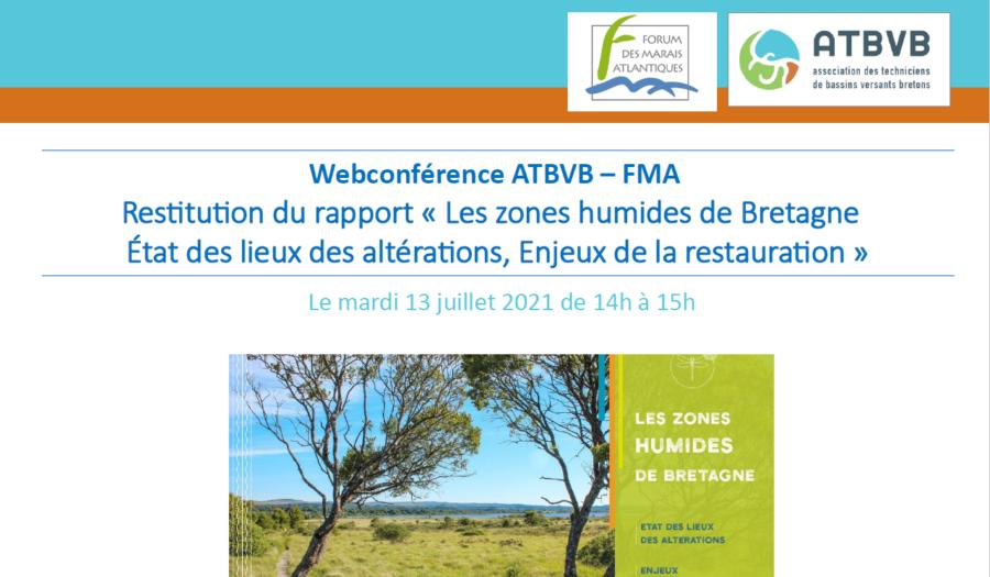 [Agenda] Webconférence « Zones humides de Bretagne – Etat des lieux des altérations, Enjeux de la restauration »